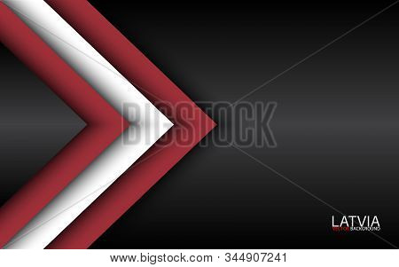 Modern Vector Overlayed Arrows With Latvian Colors And Grey Free Space For Your Text, Overlayed Shee