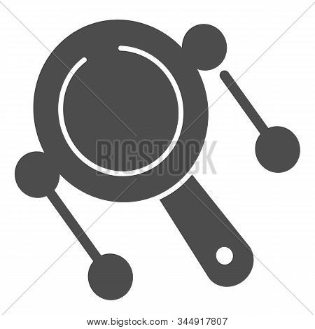 Rattle Drum Solid Icon. Mexican Pellet Drum Vector Illustration Isolated On White. Musical Instrumen