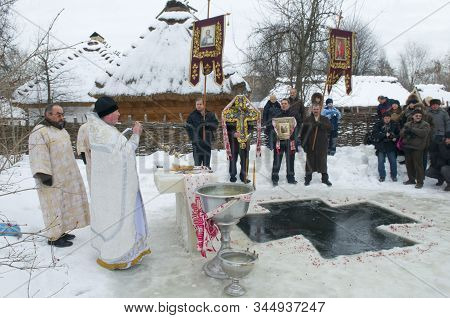 Religious Procession On The Occasion Of Epiphany Holiday