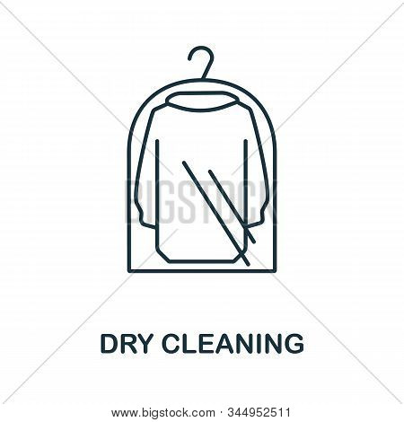 Dry Cleaning Icon From Cleaning Collection. Simple Line Element Dry Cleaning Symbol For Templates, W