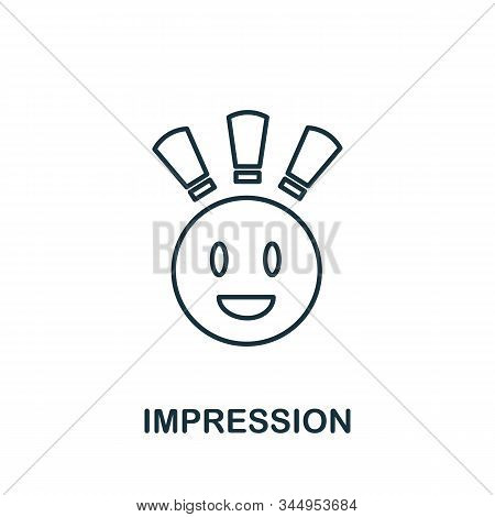 Impression Icon From Reputation Management Collection. Simple Line Element Impression Symbol For Tem