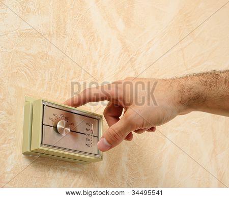 adjusting the room temperature