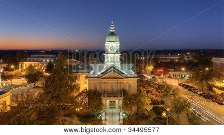 Downtown of Athens, Georgia, USA.