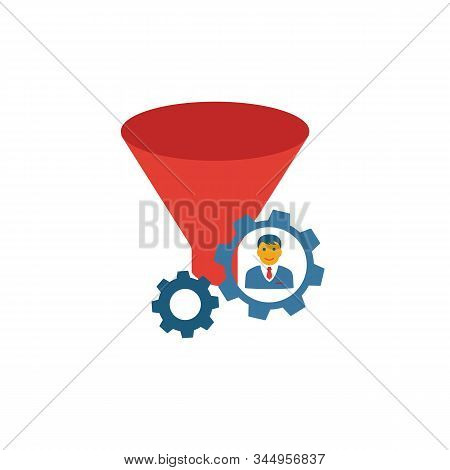 Lead Management Icon. Simple Flat Element From Crm Collection. Creative Lead Management Icon For Tem