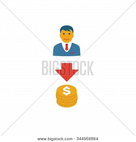 Lead-to-cash Icon. Simple Flat Element From Crm Collection. Creative Lead-to-cash Icon For Templates