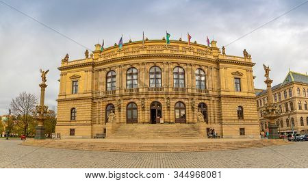 Prague, Czech Republic - 6.11.2019: Rudolfinum Building Of The Czech Philharmonic And Opera, Prague,