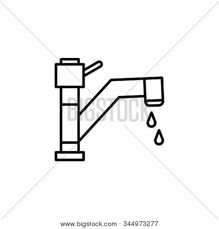 Faucet, Faucet Tap Line Icon. Elements Of Energy Illustration Icons. Signs, Symbols Can Be Used For