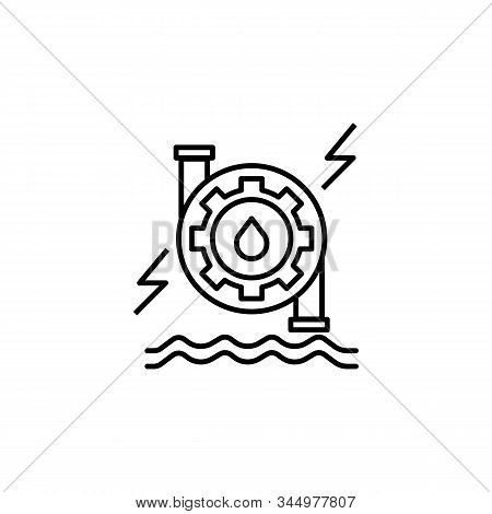 Hydro Power Line Icon. Elements Of Energy Illustration Icons. Signs, Symbols Can Be Used For Web, Lo