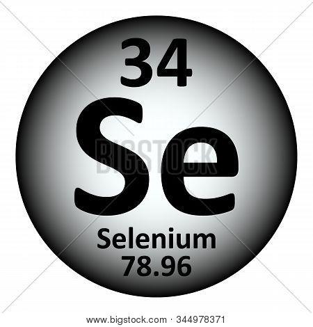 Periodic Table Element Selenium Icon On White Background. Vector Illustration.