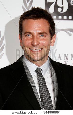 NEW YORK-JAN 6: Actor Bradley Cooper attends the New York Film Critics Circle Awards at the Edison Ballroom on January 6, 2014 in New York City.