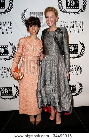 NEW YORK-JAN 6: Actress Cate Blanchett (R) and Sally Hawkins attend the New York Film Critics Circle Awards at the Edison Ballroom on January 6, 2014 in New York City.