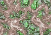 Emerald Stone Vein Buried in Earth and Stone poster