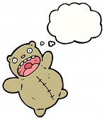 crazy teddy bear cartoon poster