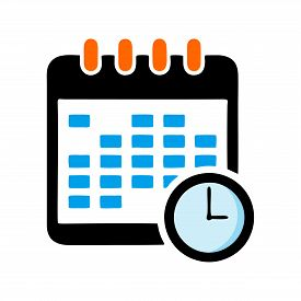 Calendar Icon Vector Isolated On White Background, Calendar Icon Vector Flat Modern, Calendar Icon,