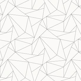 Geometric Vector Pattern, Repeating Asymmetry Linear Triangle Shape Or Polygon Triangle. Pattern Is