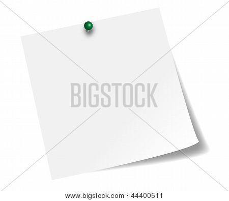 White stick note paper