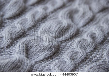 Close-up Of Knitted Wool
