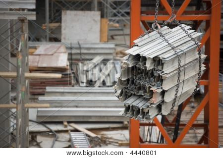 Pile Of Metalic Constraction Material