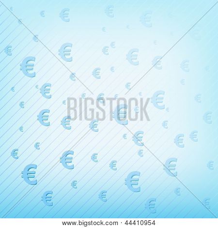 Vector Background With Euro Sign