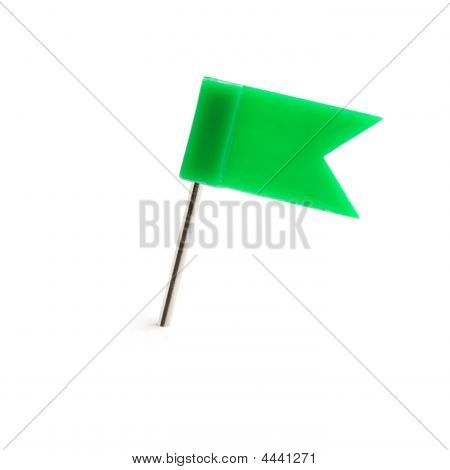Flag A Pin Green