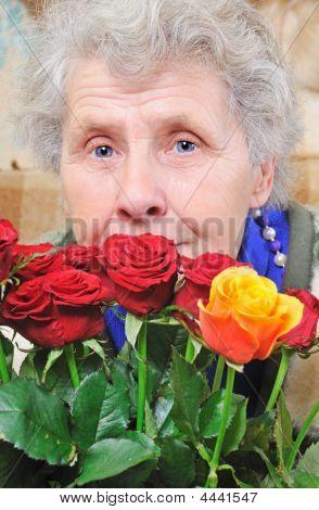 Dreamy Elderly Woman