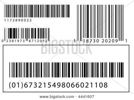Vector Set von barcodes