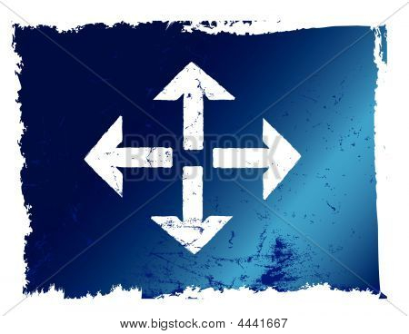 Arrows All Directions Grunge Blue.eps