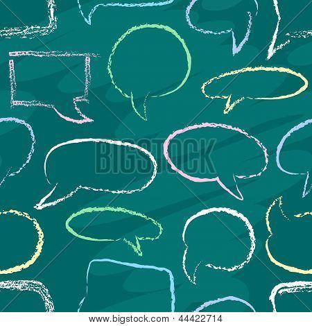 Chalk Speech Bubbles Seamless