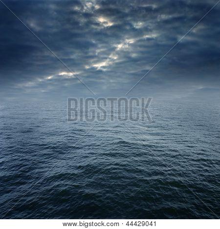 Blue Storm Ocean