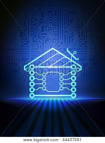 Vector home automation background.