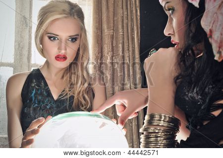 Fortune Teller With Her Crystal Ball