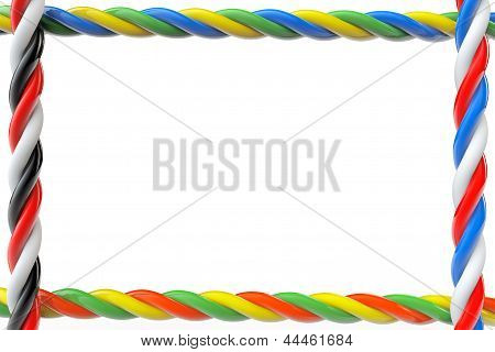 Multicolored Wires Frame With Blank Space