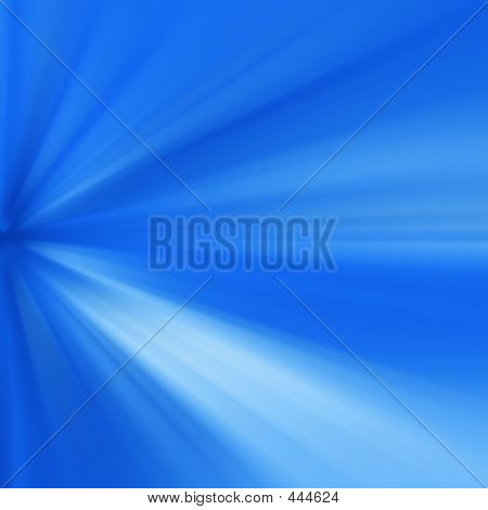 Blue Rays Of Light