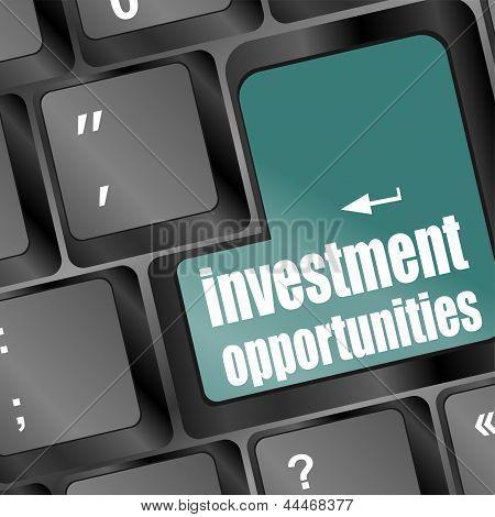 Investment Opportunities Keyboard Key, art illustration