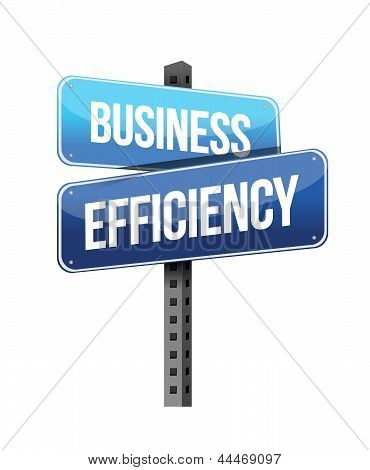 Business Efficiency Sign