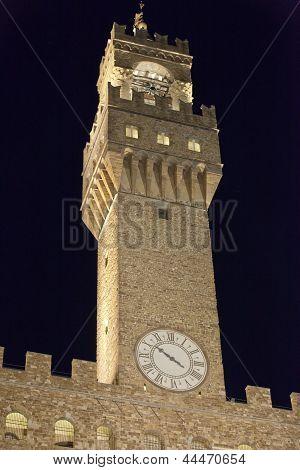 Palazzo Vecchio on Piazza della Signoria Florence Tuscany