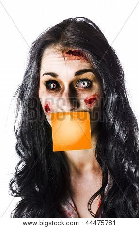 Zombie Woman Crying For Help