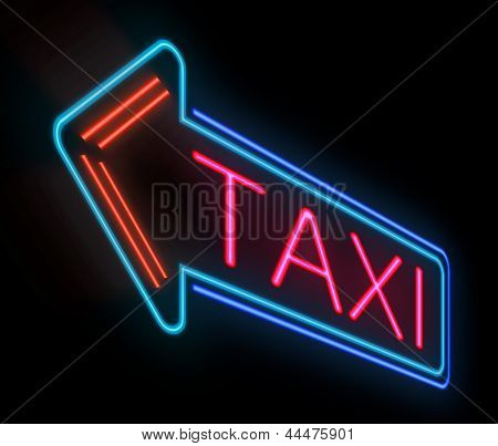 Taxi Sign.
