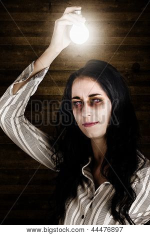 Creepy Attic Girl With Bright Halloween Ideas