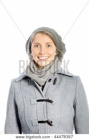 Smiling Woman In A Winter Ensemble