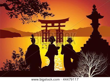 Postcard Sights Of Japan