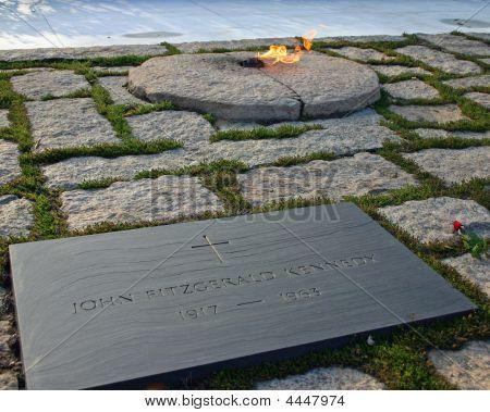 Jfk Memorial At Arlington