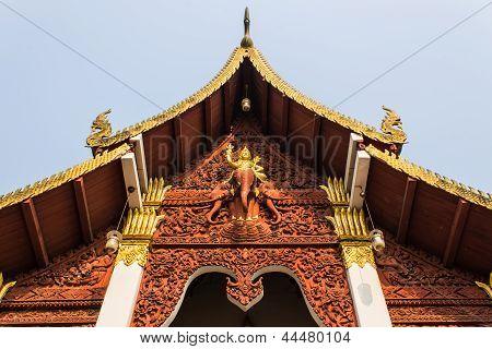 Ubosot In Wat Chang Kump , Wiang Kum Kam