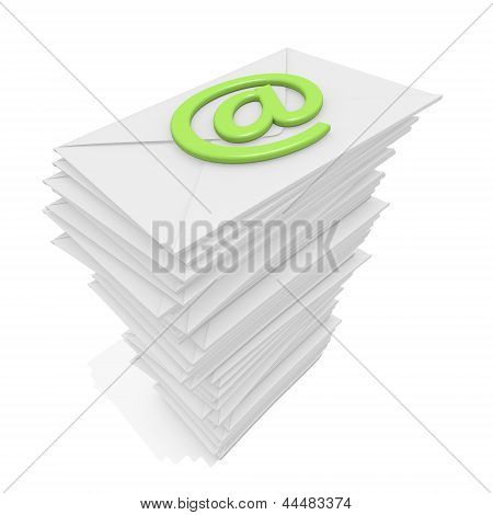 Envelopes Stack And Email Symbol