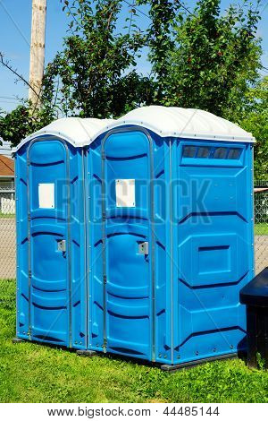 Portable Toilets On Grass