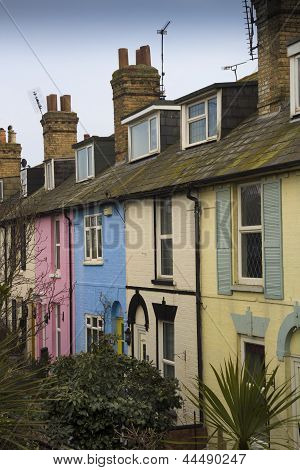 Pastel terraced houses