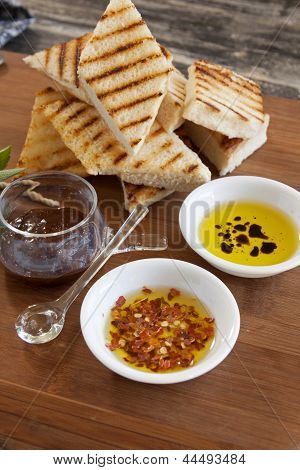 Bruschetta And Condiments
