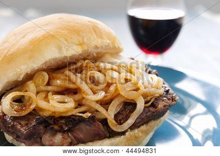 Steak And Onion Burger