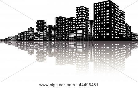 City Skyline Night scenes
