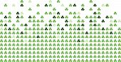 Green colored shamrocks in a mosaic-style pattern. poster